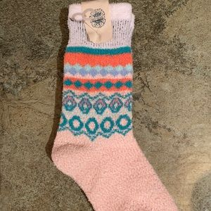 Free people socks one pink worm for boots
